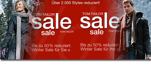 Tom Tailor Wintersale